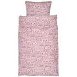 Soft Gallery Bed Linen Baby Coral, AOP Owl