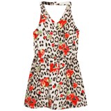 Roberto Cavalli Leopard and Strawberry Print Dress