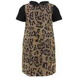 Roberto Cavalli Black Jersey Studded Gold Dress
