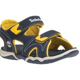 Timberland Kids Navy and Yellow Adventure Seeker Two-Strap Sandals