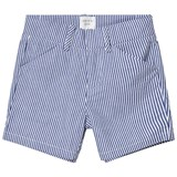 Carrément Beau Blue and White Stripe Cotton Shorts