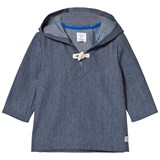 Carrément Beau Navy Woven Hooded Nautical Smock