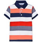 Mayoral Orange and Navy Stripe Polo