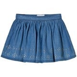 Mayoral Mid Wash Chambray Jersey Studded Skirt