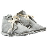 Gray Label Baby Raw Edged Booties Grey Melange
