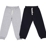 Kuling Pack of 2 Navy and Grey Melange Jogging Pants
