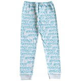 Gardner and The Gang Hotdogs Print Turquoise and Grey Leggings