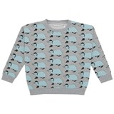 Gardner and The Gang Grey Betty The Badger Print Sweatshirt