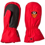 Poivre Blanc Red Infants Ski Mittens with Embroidery