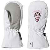 Poivre Blanc White Infants Ski Mittens with Embroidery
