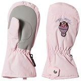 Poivre Blanc Pale Pink Infants Ski Mittens with Embroidery