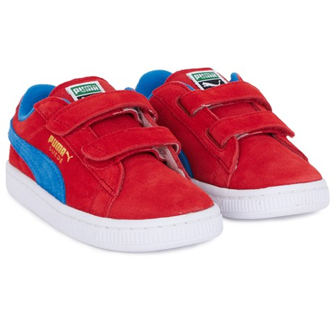 hot sale online cd582 f5d15 Puma Red Suede Velcro Trainers | AlexandAlexa