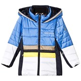 Sportalm Blue and White Colour Block Jacket
