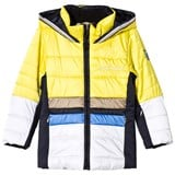 Sportalm Yellow and White Colour Block Jacket