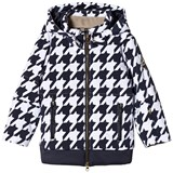 Sportalm Black and White Faux Fur Hooded Jacket