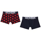 Tommy Hilfiger (Pack of 2) Navy and Red Star Print Branded Trunks Set