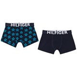 Tommy Hilfiger (Pack of 2) Navy and Blue Star Print Branded Trunks Set
