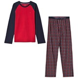 Tommy Hilfiger Red Raglan and Check Pyjama Set