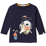 Billybandit Navy Space Cat Tee