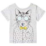 Billybandit Grey Cat Print Tee