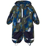 Stella McCartney Kids Navy Multi Camo Speedy Snow Suit