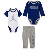 Air Jordan Dark Grey and Blue Hoops Creeper Pant Set