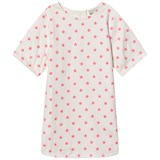 Stella McCartney Kids Exclusive White Neon Pink Embroidered Star Dress