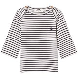 Cyrillus Navy and White Stripe Long Sleeve Tee