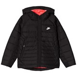 Nike Black Hooded Jacket with Pink Lining