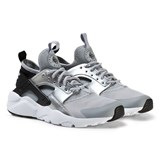 Nike Silver and Black Air Huarache Run Ultra Junior Trainers