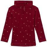Cyrillus Red Star Print Polo Neck