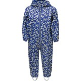 Ticket To Heaven Blue Letter Printed Rain Suit