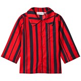 Mini Rodini Red Odd Stripe Woven Shirt