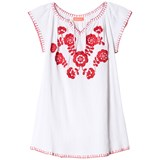 Sunuva White and Red Cheesecloth Poppy Dress