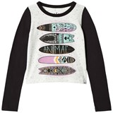 Animal Black and White Long Sleeve Graphic T-Shirt