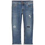 Tommy Hilfiger Blue Lana Cropped Patch Jeans