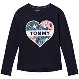 Tommy Hilfiger Navy Heart Branded Tee