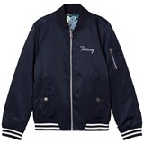 Tommy Hilfiger Navy and Floral Reversible Bomber Jacket