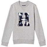 Tommy Hilfiger Grey Geometric H Sweatshirt