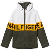 Tommy Hilfiger Cream and Khaki Branded Padded Parka
