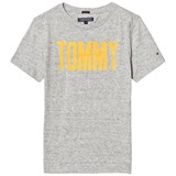 Tommy Hilfiger Grey and Yellow Branded Tee