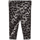 Petit by Sofie Schnoor Black and Silver Leopard Print Leggings