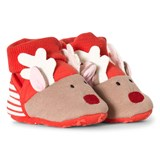 Joules Red Reindeer Slippers