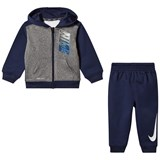 Nike Blue and Grey Therma Fit Hoodie Set