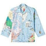 Gardner and The Gang Blue Map Print Night Shirt