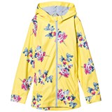Joules Yellow Floral Print Rubber Raincoat