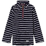 Joules Navy Stripe Half Zip Fleece