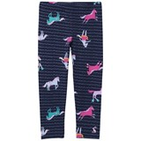 Joules Navy Stripe and Pony Printed Leggings