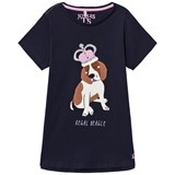 Joules Navy Dog Applique Jersey Tee