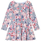 Joules Grey Floral Jersey Skater Dress
